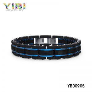 Black & Blue Modern Men Surgical Steel Bracelets
