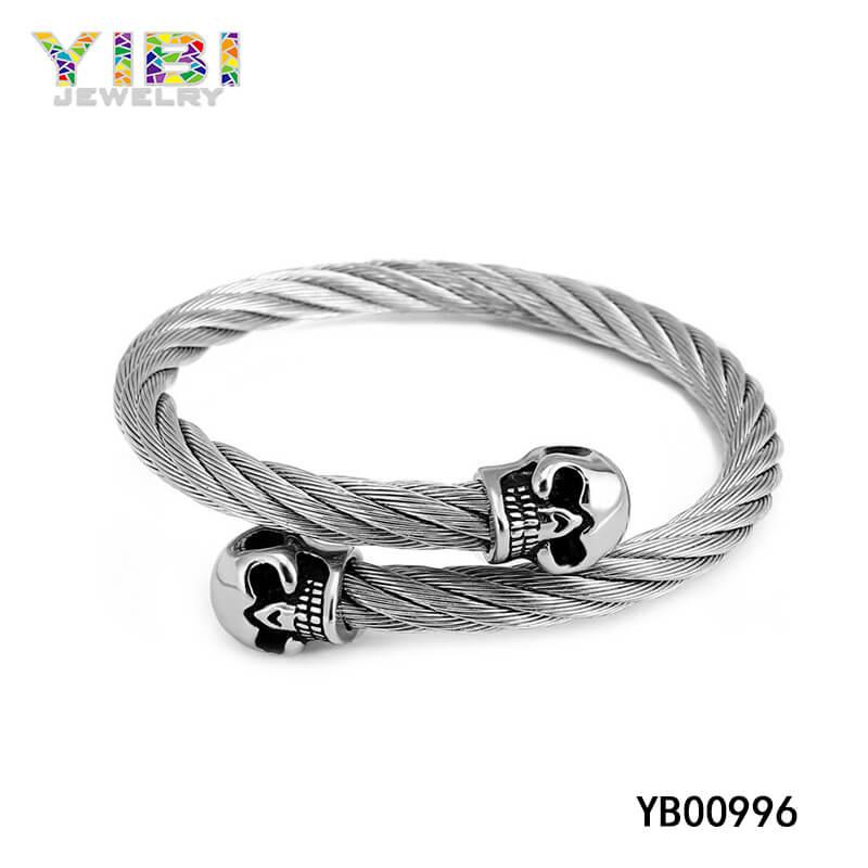 stainless steel skull bangles