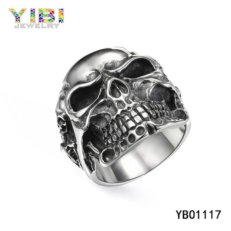 stainless steel skull rings