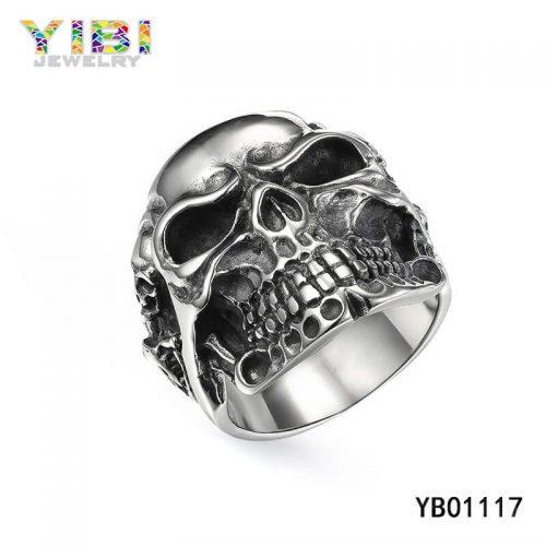 Surgical Stainless Steel Skull Rings