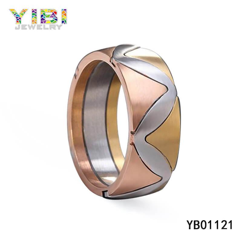316L stainless steel wedding rings