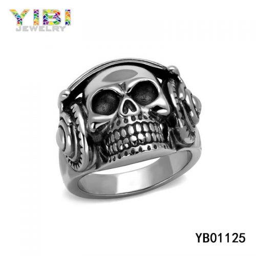 men stainless steel skull rings