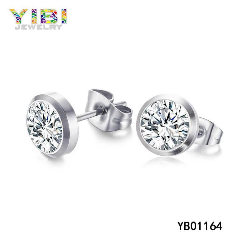 surgical steel stud earrings