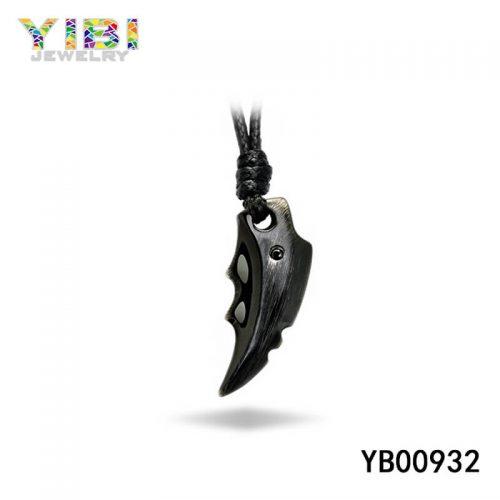 stainless steel black pendant