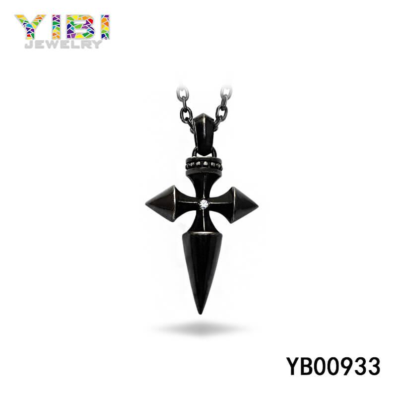 vintage black stainless steel pendant