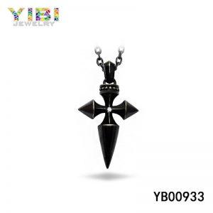 black stainless steel pendant