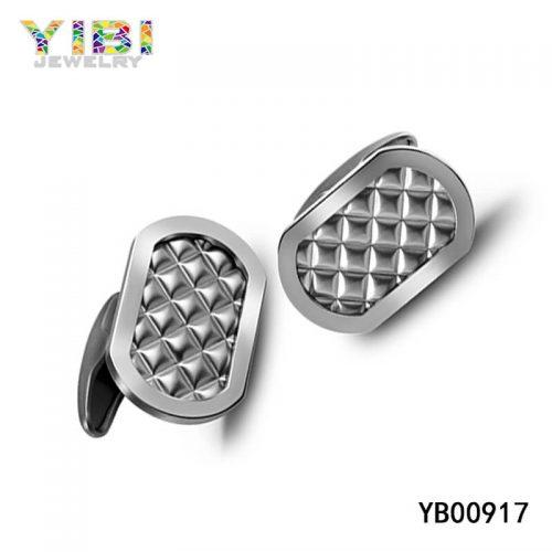 men 316L stainless steel cufflinks