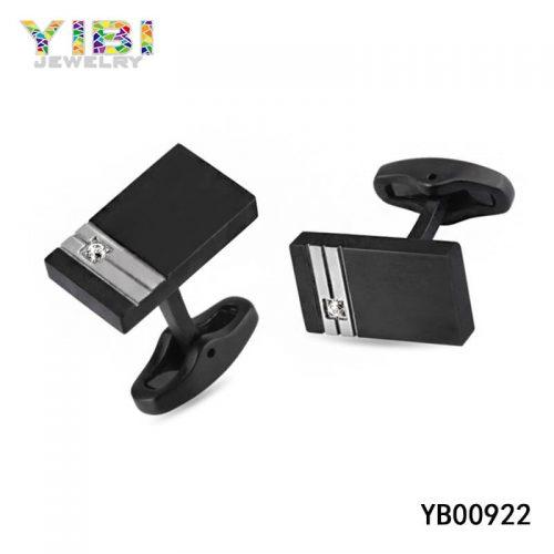 modern black stainless steel cufflinks