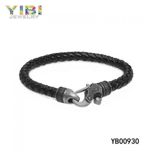 Fine 316L Stainless Steel Leather Bracelet