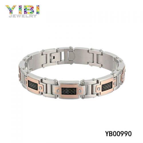 stainless steel carbon fiber bracelets