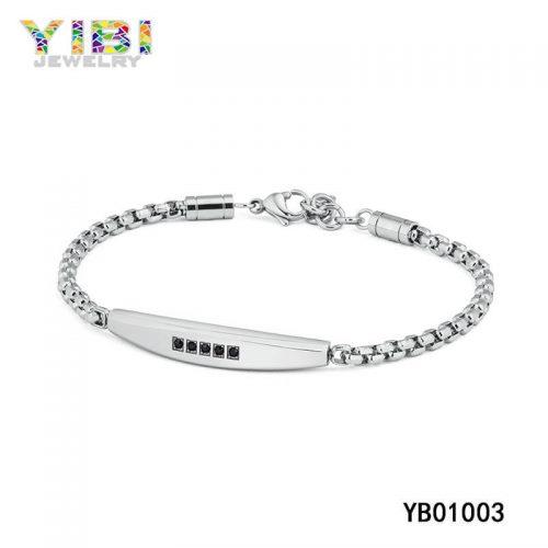 men modern stainless steel bracelets