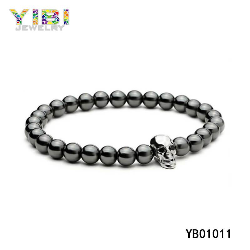 Surgical Stainless Steel Skull Bracelet