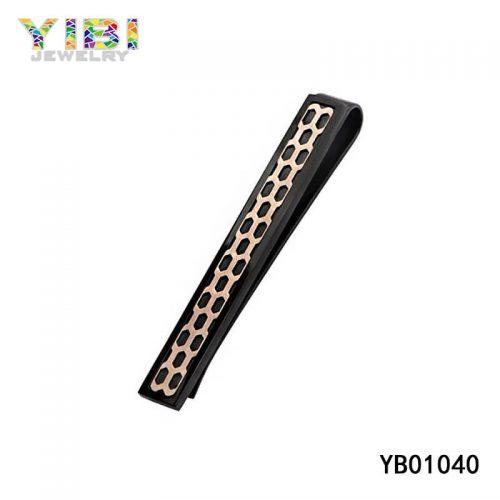 Black 316L Stainless Steel tie clip