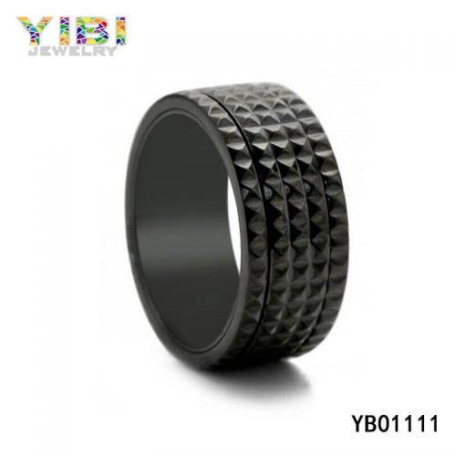 black men 316L stainless steel ring