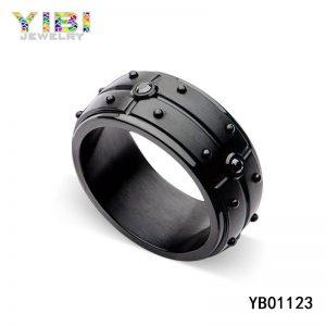 Black Stainless Steel Ring