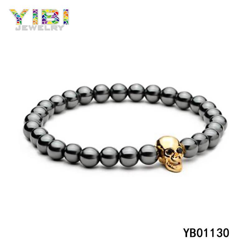 China Stainless Steel Skull Bracelet Supplier
