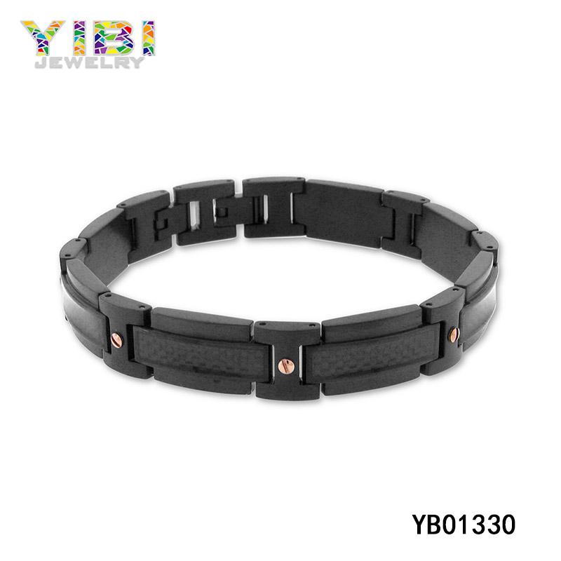 Modern Stainless Steel Lnlay Bracelet
