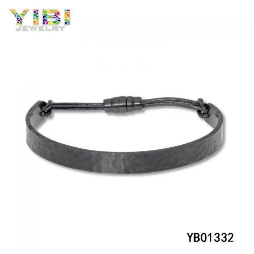 Unique hammered Stainless Steel Bracelet