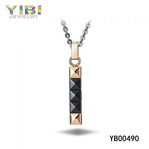 Elegant Rose Gold Stainless Steel Pendant