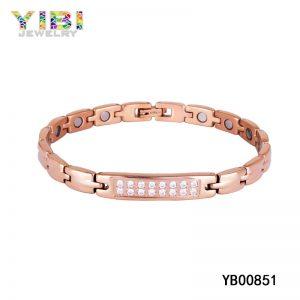 Rose Gold Plated Titanium Germanium Bracelet