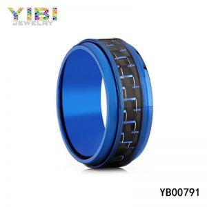 Carbon Fiber Inlay Titanium Jewelry Manufacturer