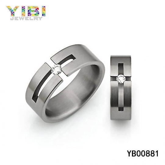Brushed Titanium Cross Ring Supplier