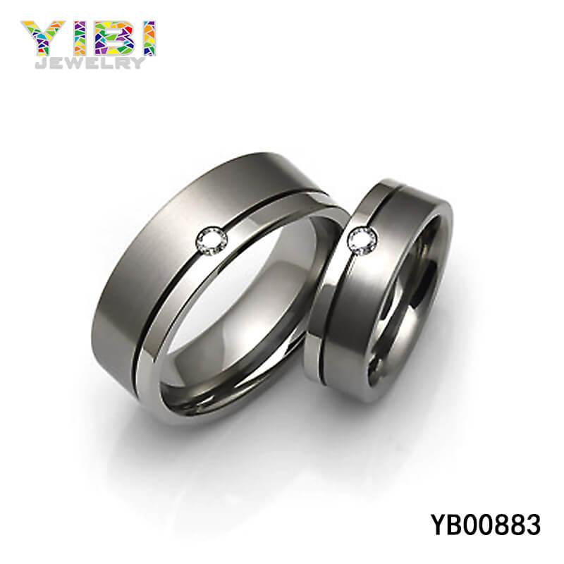 Titanium CZ Ring