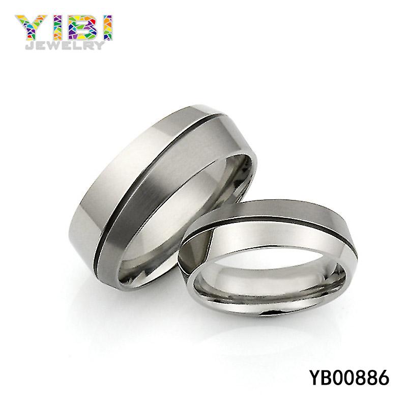 Offset Triangular Titanium Ring