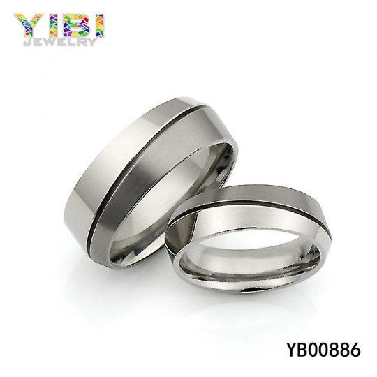 Offset Triangular Titanium Ring Factory