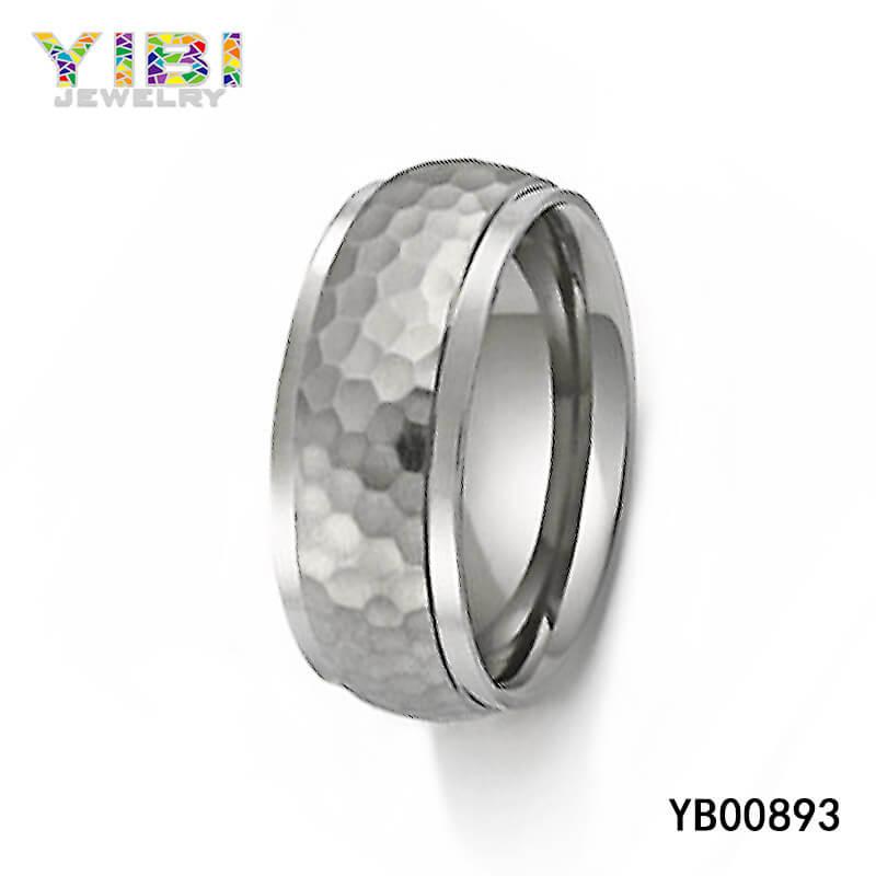 Hammered Titanium Rings