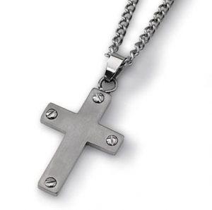 Brushed Titanium Cross Necklace Manufacturer