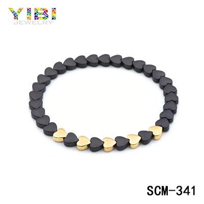 Sandblast stainless steel bracelet