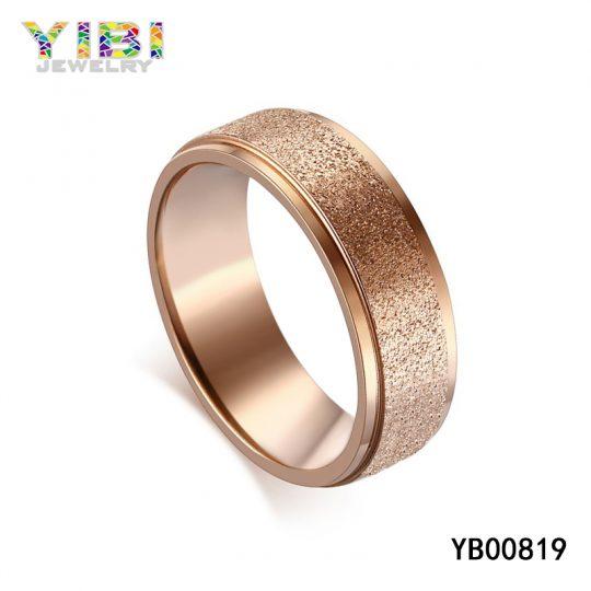 Stainless Steel Sandblasted Ring Supplier