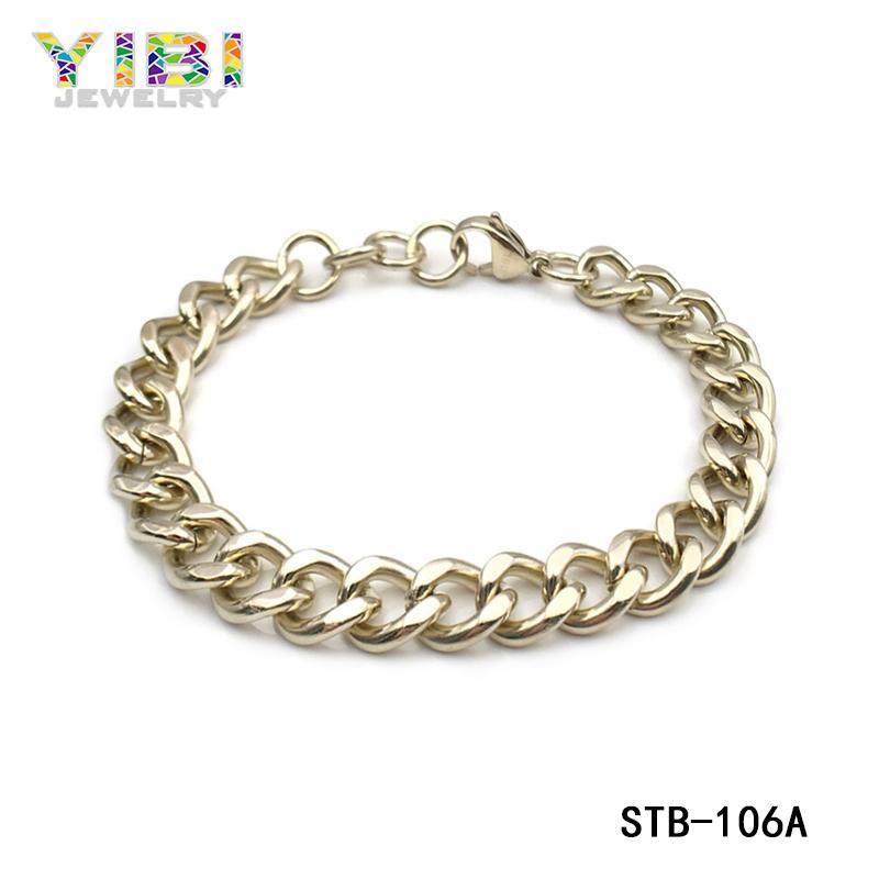 Cool 316L Stainless Steel Black Link Bracelet