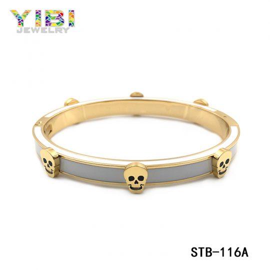Stainless Steel Skull Bangle  Manufacturer